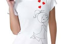Camiseta pintadas a mão