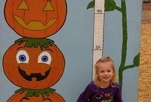 Fall Festival games and decorations