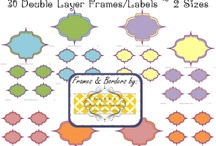 School - Clipart, Labels and More