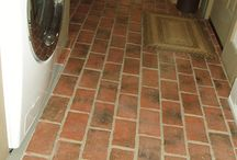 Brick Tile Laundry Rooms / Many times a mudroom or entry opens into a laundry room, and our brick tile floors can seamlessly connect the two spaces. They are fine with water spills, and will hold up to lots of hard use.