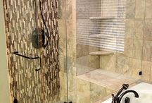 Shower enclosures / Glass shower doors and tub enclosures installation and repair for home bathroom remodeling.