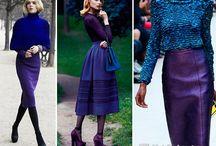 Синий и фиолет