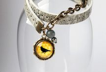 Graphic bracelet - handmade
