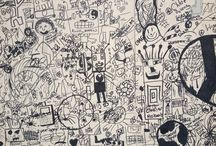 The Big Draw 2013 / Learners made a doodle wall in the forum