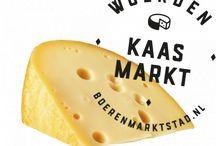 Boerenkaas / De echte boerenkaas wordt niet in de fabriek gemaakt maar op een boerderij. De smaak van de kaas verschilt per boerderij en per seizoen omdat de kaas wordt gemaakt van rauwe melk.