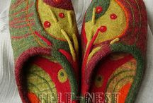 Валяная обувь / Обувь из войлока