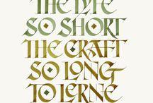 kaligrafia i liternictwo