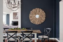 Home Decor- Dark navy blue walls and accents
