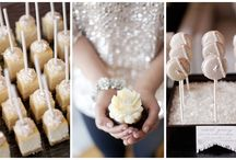 Sweet Treats / Lets go beyond the cake! Cupcakes, S'mores, and chocolate covered strawberries add a little twist to the traditional wedding.