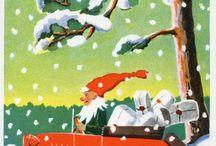 Joulukortit / Kirjavälitys Oy:n joulukorttikokoelmasta vuosilta 1932 - 1942