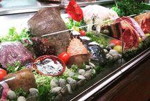 Presentación de producto fresco en restaurantes
