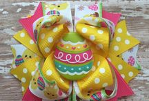 Easter hairbows