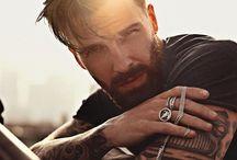 Tattoed man portrait