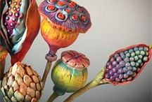 Tonblumen, Gartenstecker