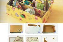 arte - caixa de papelão/caixa de leite/caixa de sapato/prato de isopor