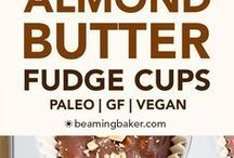 chocolate almond butter fudge cups