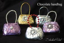 Mini Chocolate Handbag / Fine Chocolate favors - For shower, wedding, ect..