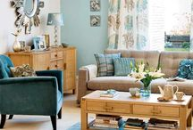 Teal and duck egg living room