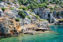 Island of Kekova in Antalya Turkey