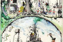 Ian Miller / Illustrator of crisp, richly detailed surreal images.