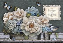 DECOUPAGE  FLOWER MIX