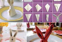 Mesa e decoração / Variedades de formas de se preparar a mesa de refeição e as possibilidades de enfeitá-la em épocas especiais