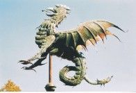 """Gryphons / """"This mythological creature has a larger than life personality, with the head, beak, and wings of an eagle, the body of a lion, and the tail of a serpent. Traditionally placed around buildings and churchyards to ward off evil spirits."""""""