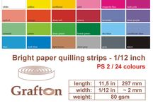 "2mm Paper Quilling Strips 1/12"" / by GraftonPl"