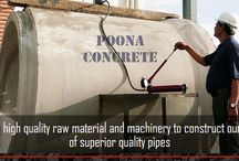 RCC pipes / Poona Concrete using world class automatic machinery plant. We provide comprehensive precast concrete pipes, rcc pipes, hume pipe manufacturer in India.