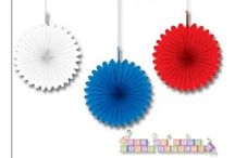 Patriotic Memorial Day, 4th of July, Red, White, and Blue Party / by Hard To Find Party Supplies