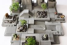 Concrete bonsai