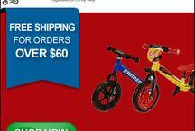 Toys, bikes /  Toys and bikes for children http://toys-goldy.blogspot.ca/2012/11/strider-bikes-for-your-toddler.html or http://www.planetgoldilocks.com/toys.htm