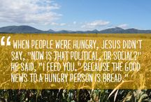 Hunger / We believe that our Creator has provided our planet with the natural resources to feed all the people who live on it. We're pursuing systemic changes to ensure the equitable distribution of resources, and in times of crisis we are offering relief to those who suffer.   Together we're working to create a world free from hunger.  That's Church.