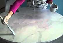 Faux marble painting tutorial