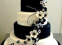 Black & White Wedding Cakes
