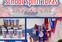 Party Ideas - School Spirit / Don't get lost in the crowd, upgrade your game with creative school spirit items. Find anything from custom-printed banners to Fan Faces and cardboard cut-outs. Make game day meaningful with personalized school spirit items. / by Shindigz Party Supplies