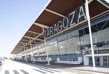 Aeropuerto de Zaragoza / El aeropuerto de Zaragoza se encuentra situado al suroeste de la ciudad maña, a diez kilómetros del centro urbano. Es un aeródromo de utilización conjunta civil-militar. http://ow.ly/GxbWb