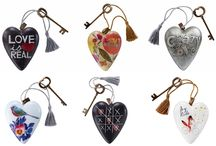 Art Hearts - Sculptured Hearts / Art Hearts are curated collection of art inspired sculptured hearts. Limited editions ideal for hanging or standing using ornamental key included.