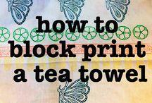 Block print your own tea towel