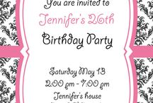 Vintage pink and black invitation card / Vintage pink and black invitation card