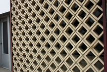 Concrete screen wall pattern cast. Perete separare, beton, forme.