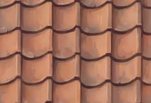 Stylized texture roof tile