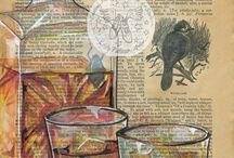 illustration on newspaper