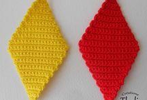 Losange tricot crochet