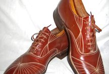 Vintage men's shoes / I've collected many vintage men's shoes over the years, many times new old stock,especially spectators/saddles and white bucks. / by Bill Busse