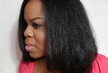 flat iron natural hair