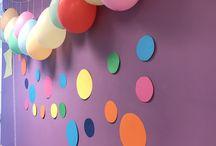 Colourful indoor decorations