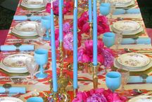 Tablescapes & Floral Arrangements / Table Linens, Glass ware, utencils, flowers, place cards, floral arrangements, candles, decorative tables / by Allie Reiter