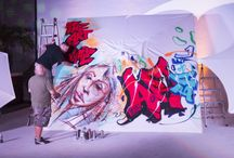 """TUUCI 'Art of Shade' Event – Art Basel 2015 / TUUCI kicked off Art Basel 2015 with its 2nd annual """"Art of Shade"""" event, showcasing 3 internationally recognized graffiti artists who used TUUCI parasols as canvases, bringing the integration of art and culture to life."""
