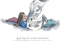 Quentin Blake and Roald Dahl / Beautiful illustrations by Quentin Blake of Roald Dahl's wonderful stories: Danny Champion of the World; Charlie and the Chocolate Factory; The BFG; The Twits; Matilda; George's Marvellous Medicine.  Some are signed by Quentin Blake.